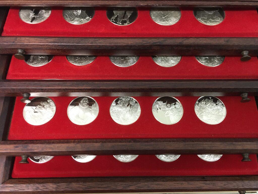 Franklin Mint Rubens koffer zilver